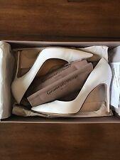 $675 Gianvito Rossi White Pumps Stilettos 37.5 or 7.5 Great Condition