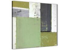 VERDE Grey Pittura Astratta Tela arte FOTO-Moderno Quadrato 49 cm - 1s337s