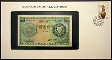 Cyprus - 500 Mils - 1979 Uncirculated Banknote enclosed in stamped envelope.