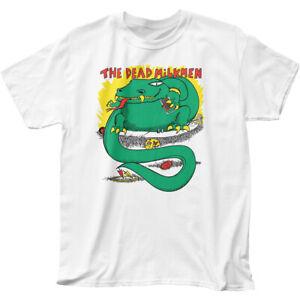 Dead Milkmen Big Lizard In My Backyard T Shirt Mens Licensed Rock N Roll White