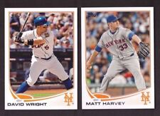 2013 NEW YORK METS Team Set Series 1 & 2 w/ Updates 33 Topps Cards