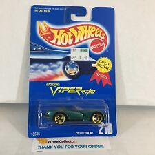 #3  Dodge Viper RT/10 #210 * Green w/ 3sp * Blue Card Hot Wheels * NE25