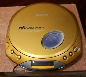 Sony CD Walkman D-E350 ESP Max Portable CD Player Gold EXCELLENT CONDITION WORKS