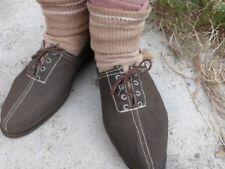 Rare paire chaussures de sport toile kaki Armée d'Armistice maquis CJF chantiers