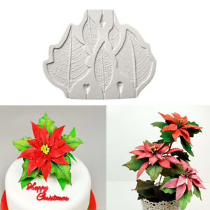 Silicone Leaf Fondant Flower Leaves Mold Cake Baking Border Sugarcraft Mould DIY