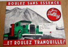 RARE ancienne affiche GAZO BELLAY ( gazogène ) - WW2 - camion OPEL BLITZ - 1941