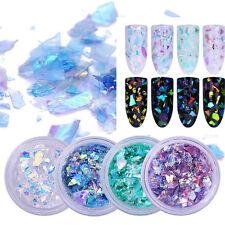 1 Set Nail Art Glitter Sequins Flakies Glass Paper Fluorescent Paillette Decals