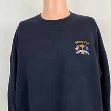 Slazenger Golf Ryder Cup Country Club Crewneck Sweatshirt Vtg Blue Size Large