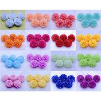 100pc Daisy Artificial Fake flower Silk Spherical Heads Bulk Wedding Party Decor