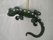 December Diamonds Green Gecko Zoology Christmas Ornament