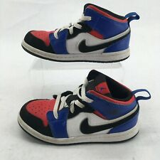 Nike Air Jordan 1 Mid Top 3 Sneakers Child 10 Leather Multicolor 640735-124