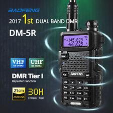 2017 Baofeng DM-5R DMR Dual Band V/UHF Two-way Ham Radio Walkie Talkie 2000mAh