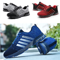Mens Trainers Running Gym Fitness casual Shoes Mesh Sneakers Lace Up Breathable