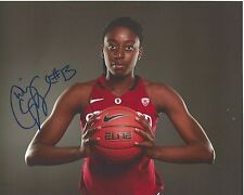 CHINEY OGWUMIKE Signed 8 x 10 Photo WNBA Connecticut Sun Basketball STANFORD