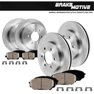 Front and Rear Brake Rotors and Ceramic Pads For 2010 - 2017 Ford Expedition