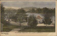 Danbury Ct Lake Kenosia Summer Resort c1910 Postcard