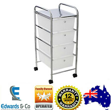 Storage Shelves Trolley Plastic Kitchen Storage Boxes Bathroom Office 4 Drawer
