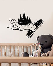 Vinyl Wall Decal Magic Hand Fairy Tale Stars Forest Fantasy Stickers (2926ig)