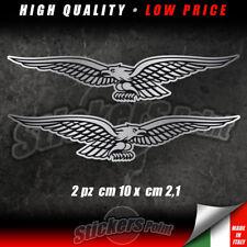 2 adesivi AQUILA MOTO GUZZI stickers eagle ARGENTO nero GRISO CALIFORNIA CMG003