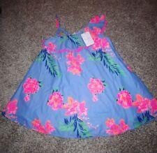 TOMMY BAHAMA KIDS Floral Print One Shoulder Dress Girls size 6 NWT blue Pink