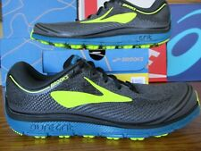 Brooks Pure Grit 6 Black Neon Green Blue Grey 10 110156 1D 048 Running Shoes 7 8