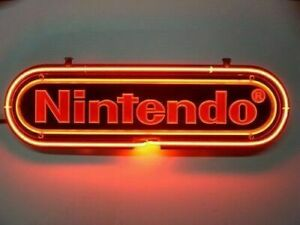 """New Nintendo Neon Light Sign 14"""" Beer Cave Gift Lamp Bar Game Room"""