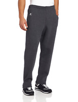 Russell Athletic Men's Dri-Power Open Bottom Sweatpants with Pockets, Black