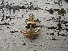 Ancienne petite ancre de Marine pendentif grigri doré