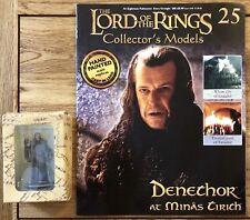 El Señor De Los Anillos Edición 25 Denethor en Minas Tirith Figura Con Revista