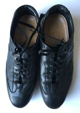 TOD'S  Black Lace Loafers Casual Fashion Sneakers  Shoes  US 9  ~ MINT