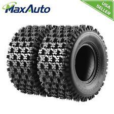 TWO 20x10-9 ATV Tires for Yamaha Raptor 660 700 YFZ350 Banshee 350 4 Ply 20x10x9