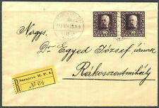 A07232 - Bosnia #99 (two of them) on registered cover.