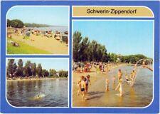Zippendorf Schwerin Strand und Strandkörbe, Kinder an der Wasserrutsche 1982