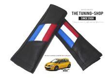 """2 X Almohadillas cubiertas de cinturón de seguridad de cuero negro """"diseño de estilo francés PRIDE"""""""