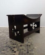 Tabouret en bois noirci Design  stool