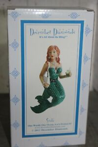 "NEW ! December Diamonds ""Soda"" Mermaid Ornament NEW In Box 2012"