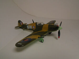 "Dinky Toys 718 RAF TOP ACE ""PAT"" PATTLE'S HAWKER HURRICANE CUSTOM RESTORATION NM"