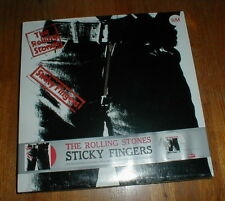 """ROLLING STONES Orig 2009 """"Sticky Fingers"""" LP boxset RED wax SEALED w T-SHIRT NM"""