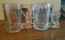 Coca cola frosted collectable mugs- 1997-98.
