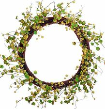 """20"""" Berry Leaves Wreath Yellow Easter Spring Fall Holiday Door Wall Decor 481u"""