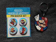 Nintendo Super Mario pin badges and keychain