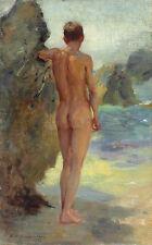 Nude Male Bather, Henry Scott Tuke CANVAS print