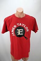 James Taylor Down Home Tour Concert Music 2009 Rock Roll Hall Fame Red Sz L