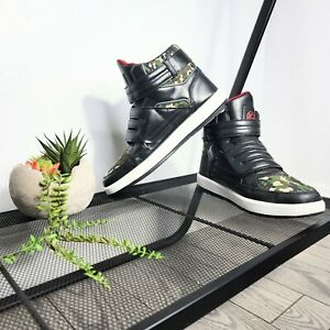 Coogi CMF305 Men's Camouflage w/ Black & Red Hook & Loop Strap High Tops Size 8