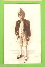 #B.   POSTCARD -  BOY IN MILITARY UNIFORM