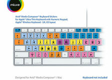 Avid Media Composer Keyboard Stickers | Mac | QWERTY UK, US