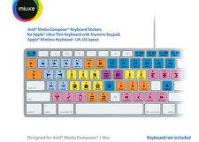 Pegatinas teclado Avid Media Composer | Mac | QWERTY Reino Unido, EE. UU.