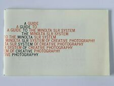 Guide To The Minolta SLR System Information Original Manual Vintage 1980s