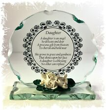 Daughter Poem Cut Glass Plaque Special Birthday Gift Keepsake Ltd Edition  #1
