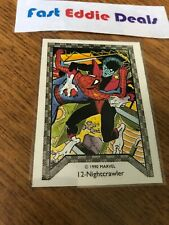 MARVEL COMIC IMAGES 1990 SPIDER-MAN TEAM UP TRADING CARD 12 NIGHTCRAWLER X-MEN